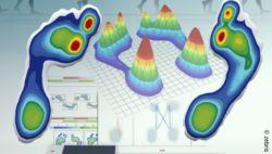 Image: pressure distribution profile created with zebris' pressure sensors; Copyright: zebris