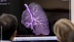 Image: medical image of a heart at MEDICA; Copyright: Messe Düsseldorf