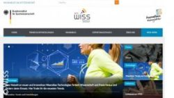 Photo: Screenshot of the web portal WISS