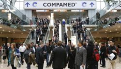 Image: Entrance of COMPAMED trade fair halls; Copyright: Messe Düsseldorf