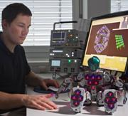 Photo: Image of new robot and engineer Philip Mittendorfer