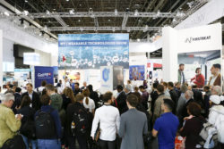 Picture: Always a crowd-puller - the Wearable Technologies Show at the MEDICA