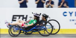 Photo: two recumbent bicycle bikers
