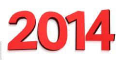 Graphic: Year 2014, written in large red numbers on white ground
