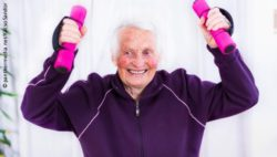 Photo: Old woman working out