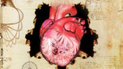 Image: An elaborated, artistic drawing of the human heart; Copyright: Spencer Phillips