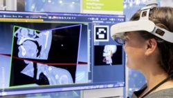Image: virtual reality device at MEDICA trade fair; Copyright: Messe Düsseldorf