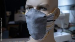 Image: redesigned face mask on a mannequin; Copyright: Christopher Moore, Georgia Tech