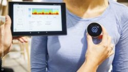 Image: Intelligent and innovative stethoscope of the start-up StethoMe; Copyright: Messe Düsseldorf/ctillmann