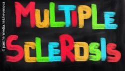 Image: Multiple sclerosis written on a sign; Copyright: panthermedia.net/nevenova