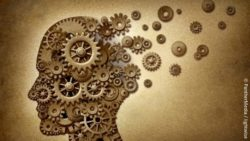 Image: depiction of dementia as gears coming loose in a head; Copyright: panthermedia.net/lightwise