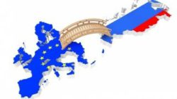 Graphic: Bridge connecting EU and Russia; Copyright: panthermedia.net/Alexander Kharchenko